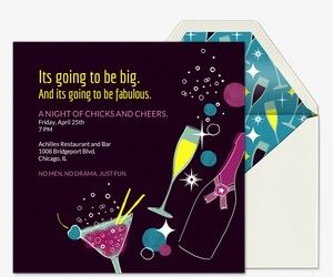 girls night free online invitations birthday 3 pinterest