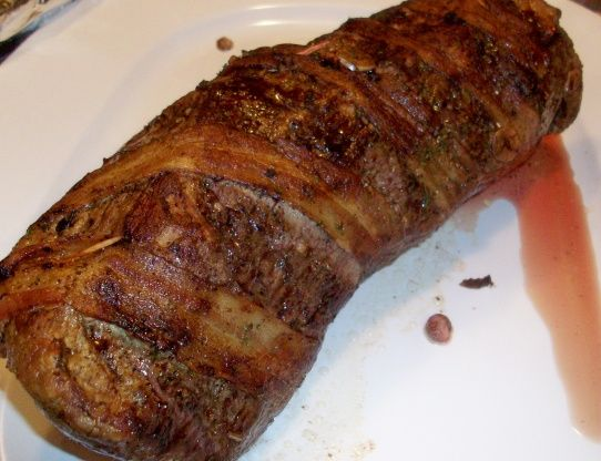 Sweet bacon wrapped venison tenderloin recipe venison venison game recipes forumfinder Choice Image