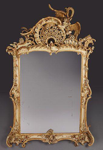 Rokoko spiegel berlin potsdam um 1755 60 johann michael - Vintage holzmobel ...