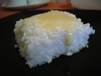Da série: comida de festa junina Cuscuz de Coco