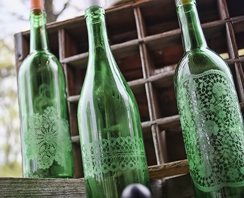 Most recycling centers don 39 t accept green glass upcycle for Most beautiful wine bottles
