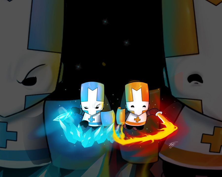 Castle Crashers Ice And Fire By Zeyjin On Deviantart Castle Crashers Game Pictures Castle