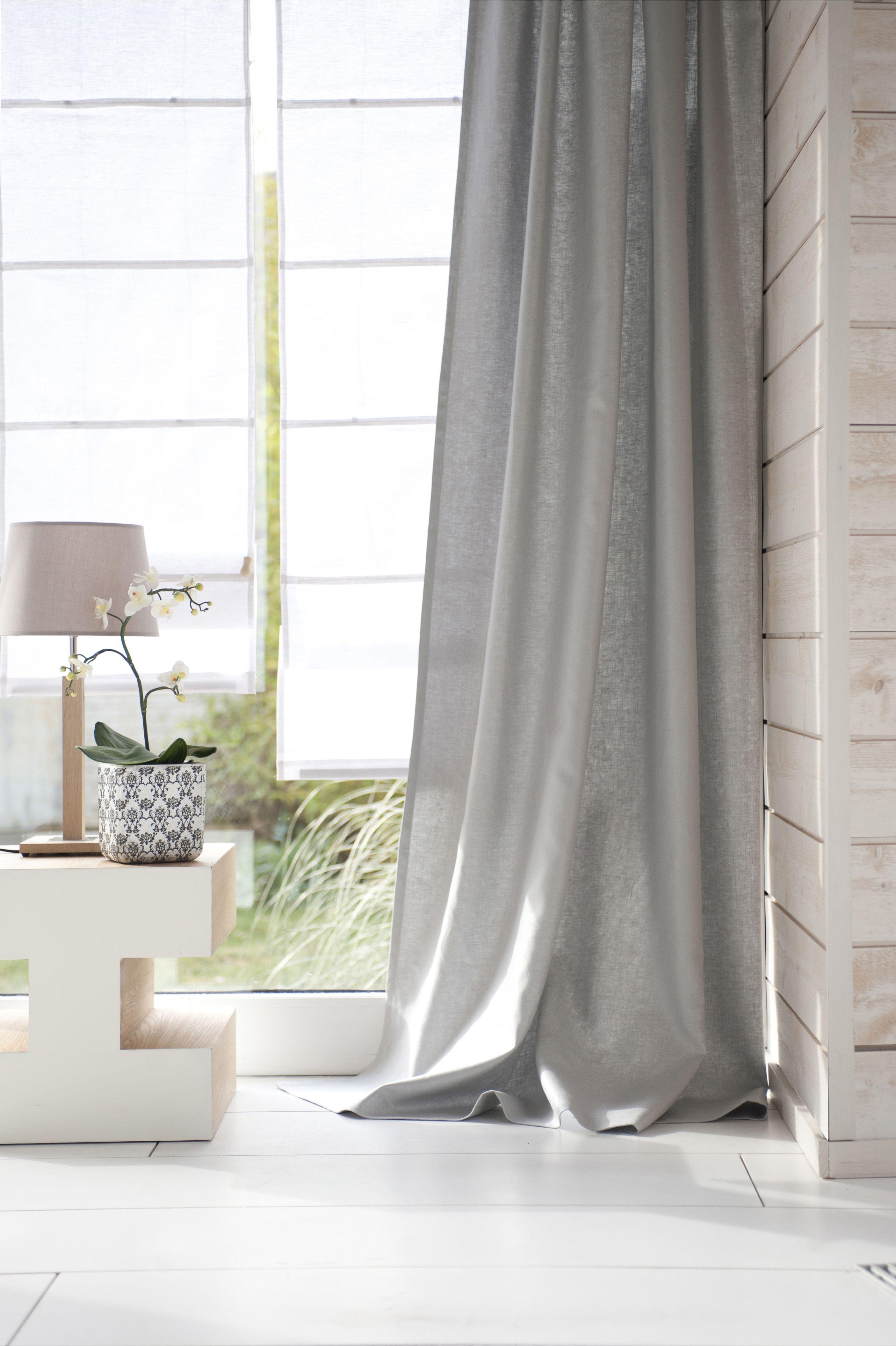 Store Bateau En Lin Coton Anais Inspire Blanc Blanc 0 Idees De Rideaux Decoration Interieure Decoration Maison