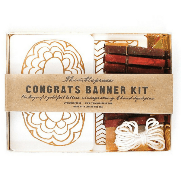 Congrats gold foil stamped diy banner banners fun diy and yarns congrats gold foil stamped diy banner solutioingenieria Image collections