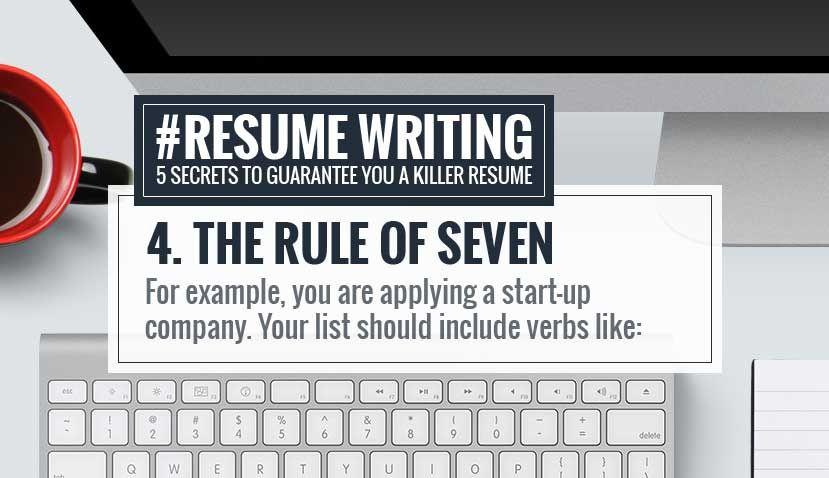 RESUME WRITING TIP #4 ☆ The Rule Of Seven Http://rockstarcv