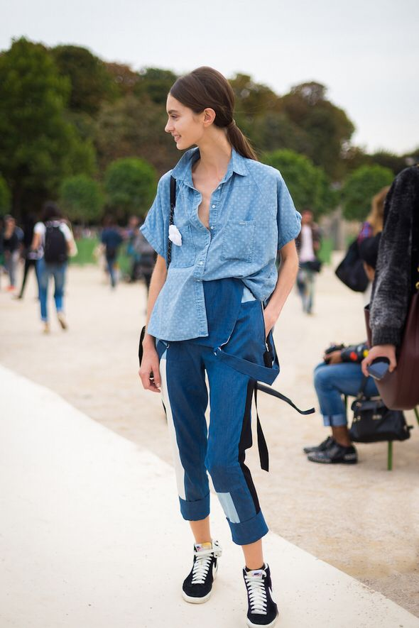 denim#street style#all blue