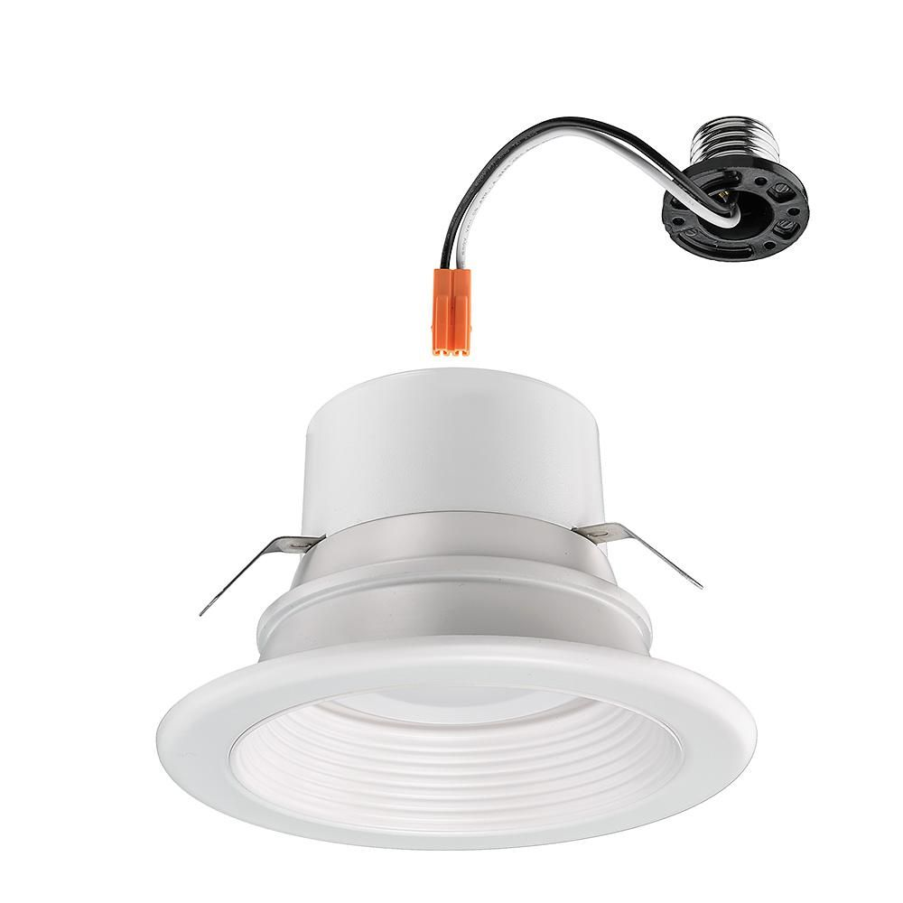 Commercial Electric 4 In Selectable Integrated Led Recessed Trim Downlight 30 Configurations In One Fixture High Ceiling Output Dimmable 53802101 The Home De In 2020 Recessed Lighting Ceiling Can Lights Downlights