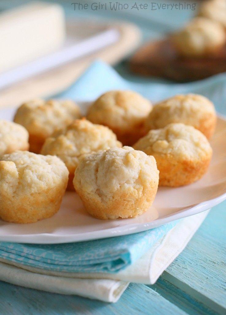 Sour Cream Mini Biscuits #sourcream