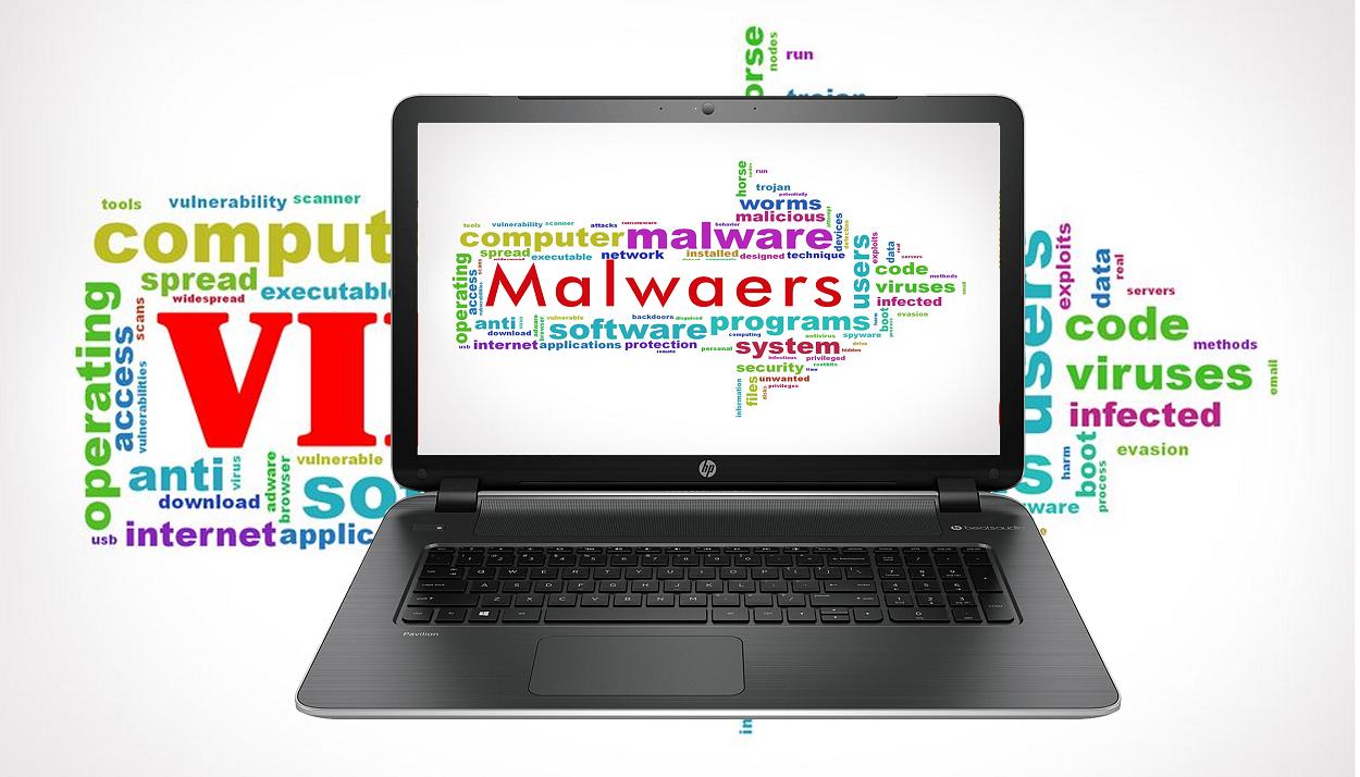 Viruses, scams, Ransomware, identity theft, Trojan horse