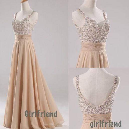 Sparkle top cafe cream prom dress
