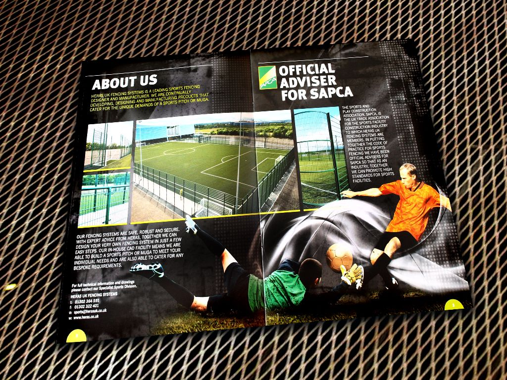 Heras Sports Brochure Design  Editorial Design