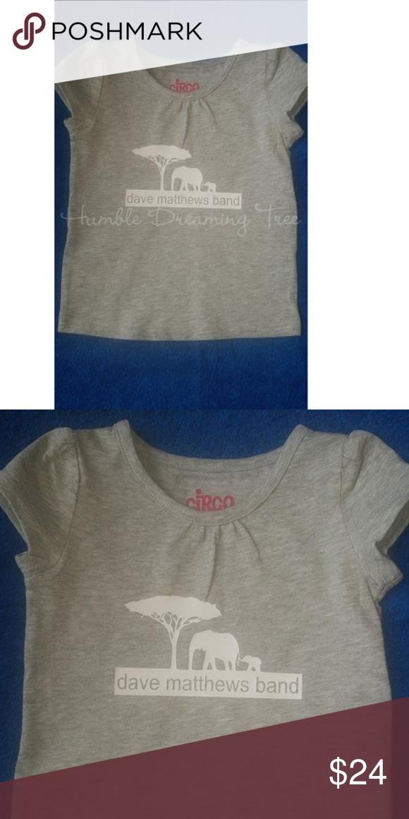 ba265dad6 DMB Dave Matthews band 12mo girls shirt kids new Brand new adorable  tee-shirt with dave matthews band and mama and baby elephants. size 12MO  BUNDLE TO SAVE ...