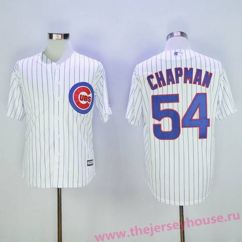 3b837dd82 Men's Chicago Cubs #54 Aroldis Chapman White Home Stitched MLB 2016  Majestic Flex Base Jersey