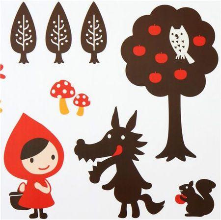 Afficher l 39 image d 39 origine illustration pinterest - Dessin petit chaperon rouge ...