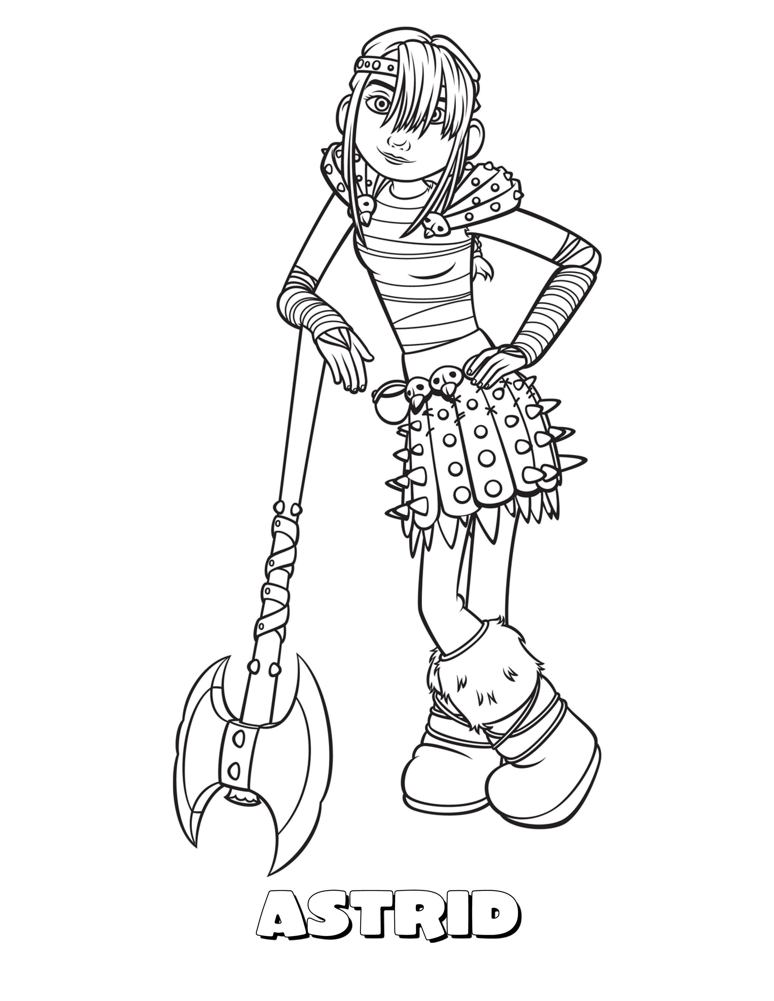 Astrid Jpg 2550 3300 How Train Your Dragon Dragon Coloring Page How To Train Dragon