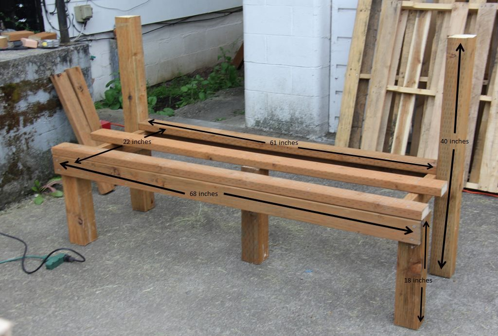 Tailgate Bench Part 1 Building The Bench Frame Tailgate Bench Diy Tailgate Bench Outdoor Living Decor