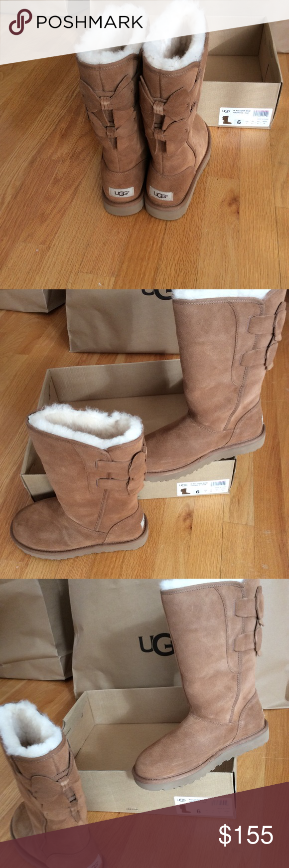 1efaaf55fb2 UGG Allegra bow Authentic UGG Allegra bow. New in a box. Please ...