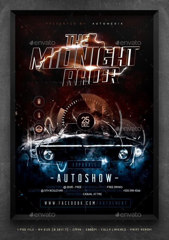 Car Show Flyer  Poster Template  Summer Poster And Template