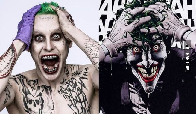 Jared Leto as The Joker 9GAG