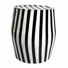 Image result for black and white striped garden stool