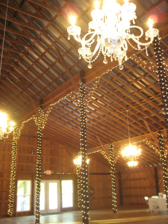 Crystal chandelier barn at sweet apple farm in pell city alabama