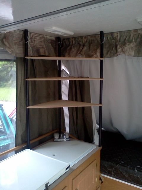 So I Needed Some Shelves Popup Camper Popup Camper Remodel