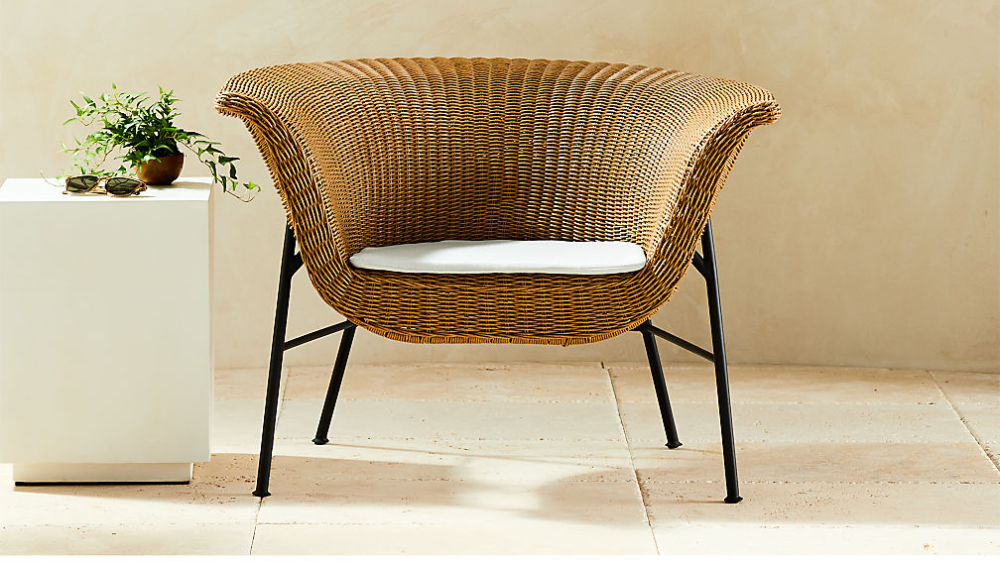 Outdoor Basket Chair Reviews Cb2 In 2021 Basket Chair Metal Patio Furniture Chair