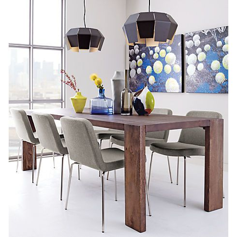 Blox 35x91 Dining Table In New Furniture Cb2 With Images Wood Dining Table Mango Wood Dining Table Modern Dining Table