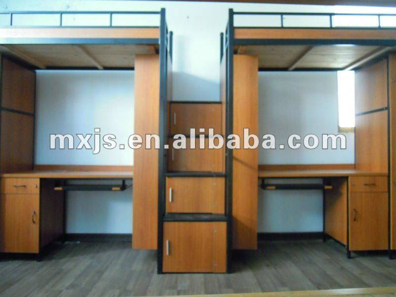 Buy Wooden Double Bunk Bed With Desk In China On Alibaba.com