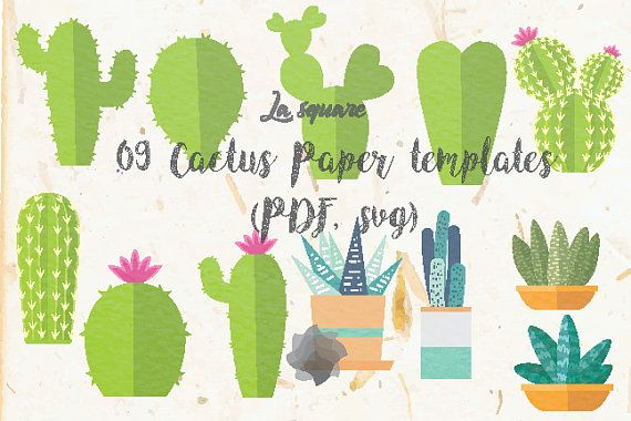 free give away files and set 09 cactus paper templates paper pots