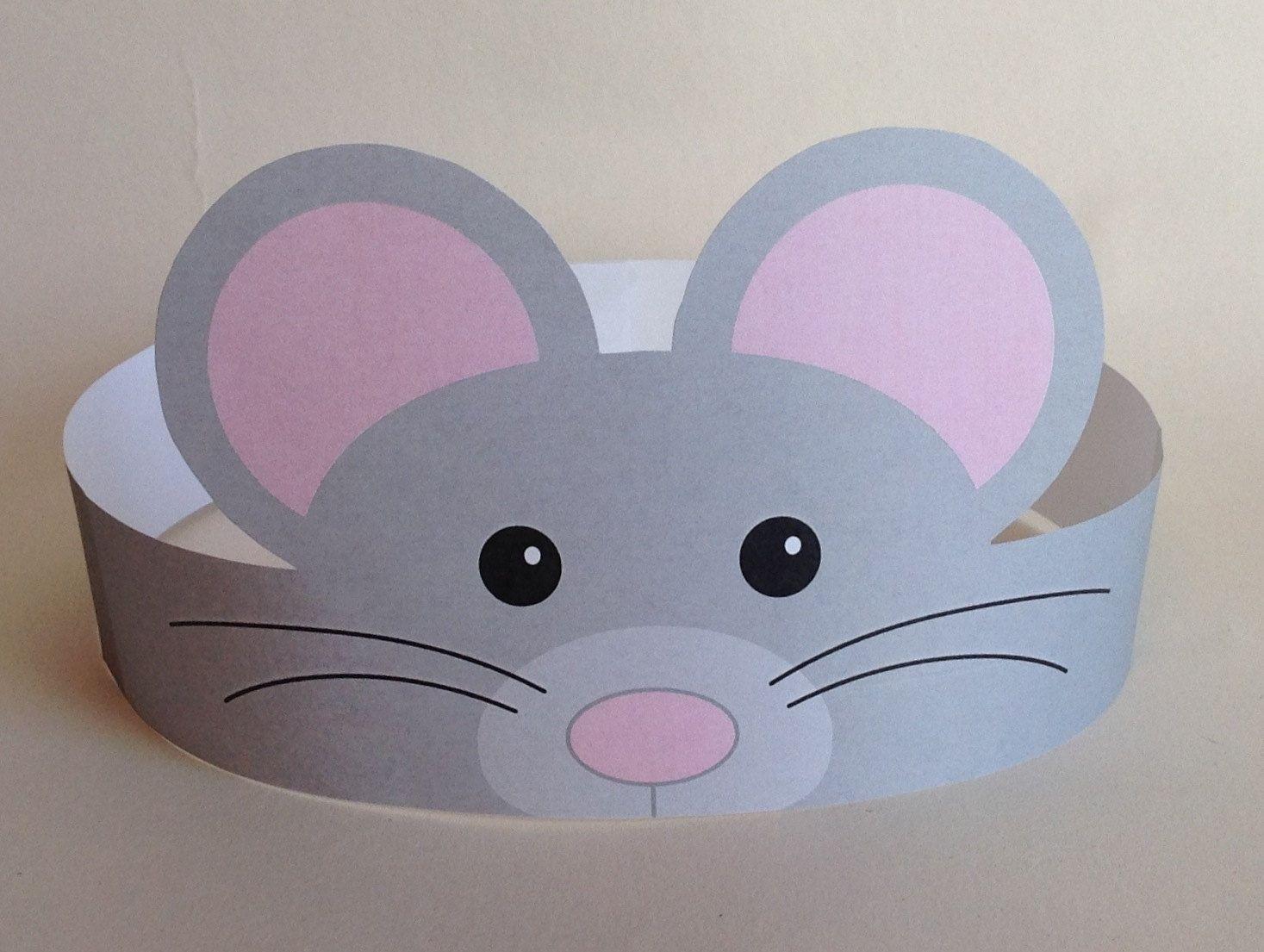 Mouse Paper Crown - Printable | Zahlung, Ausschneiden und Versenden