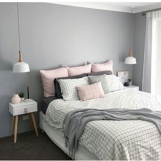 17 Best Ideas About Blue Grey Rooms On Pinterest: Quarto Feminino Em Tons De Cinza E Rosa