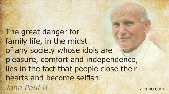 Pope John Paul Ii Quotes 01 Pope John Paul Ii Quotes On Family