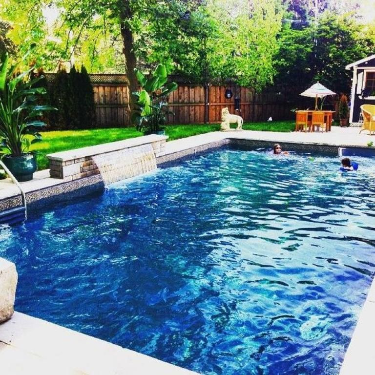 25 Fabulous Rectangle Swimming Pools With Waterfall Design Ideas