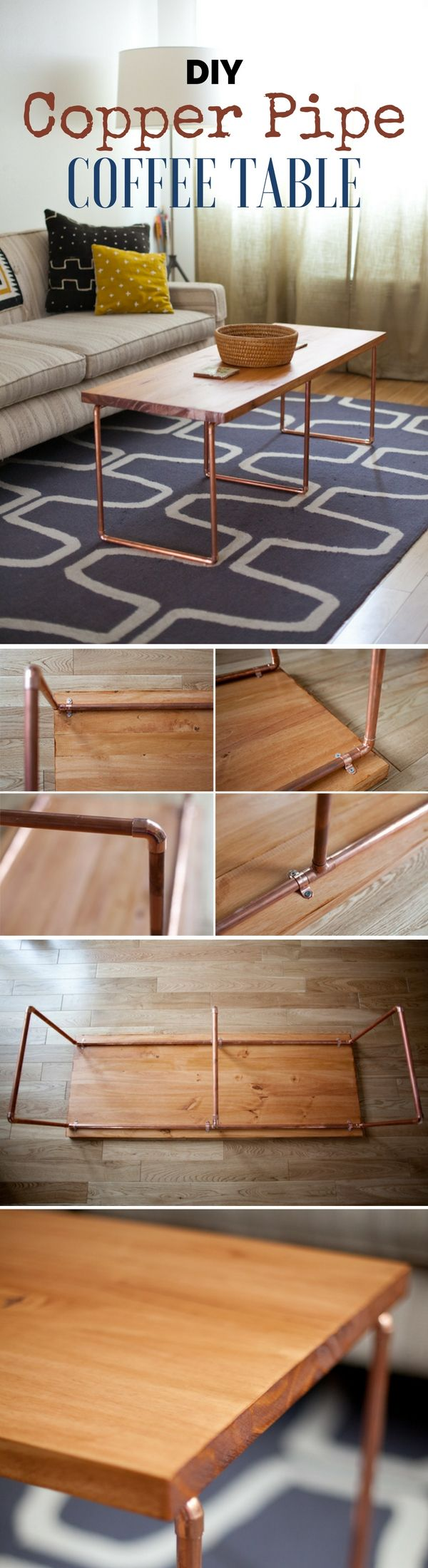 Easy To Build Coffee Table.Check Out How To Build This Easy Diy Copper Pipe Coffee Table