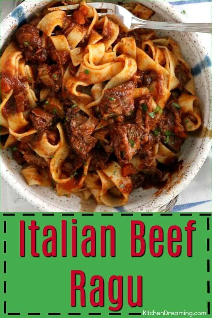A staple of northern Italy, a ragu is a thick, full-bodied meat sauce that usually contains beef, tomatoes, onions, celery, carrots, and garlic. The already flavorful sauce is then further enhanced with wine and herbs.
