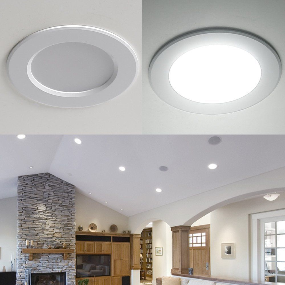 8w 35 Inch 400lm Led Recessed Lighting Daylight White Led With Regard To How To Design Recessed