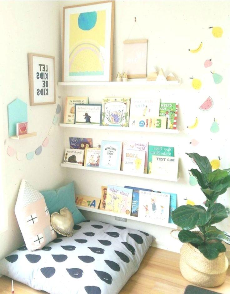 Leseecke im Kinderzimmer einrichten mit Sitzkissen
