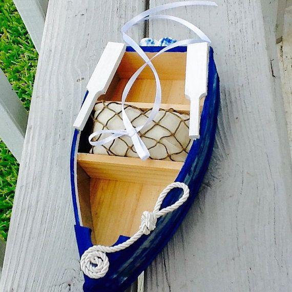 Nautical Boat Ring Pillow Alternative-Navy by NauticalWeddings