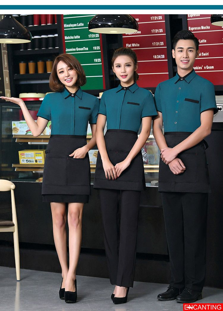 Security & Protection Adult Work Wear Autumn And Winter Cake Shop Services Waitress Uniform Set Workplace Safety Supplies