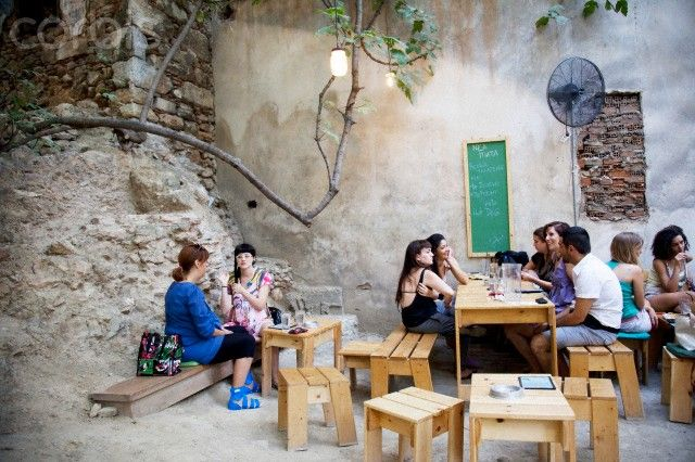 punters at Six Dogs cafe-bar-cultural centre in Monastiraki, Athens / by Mike Kemp