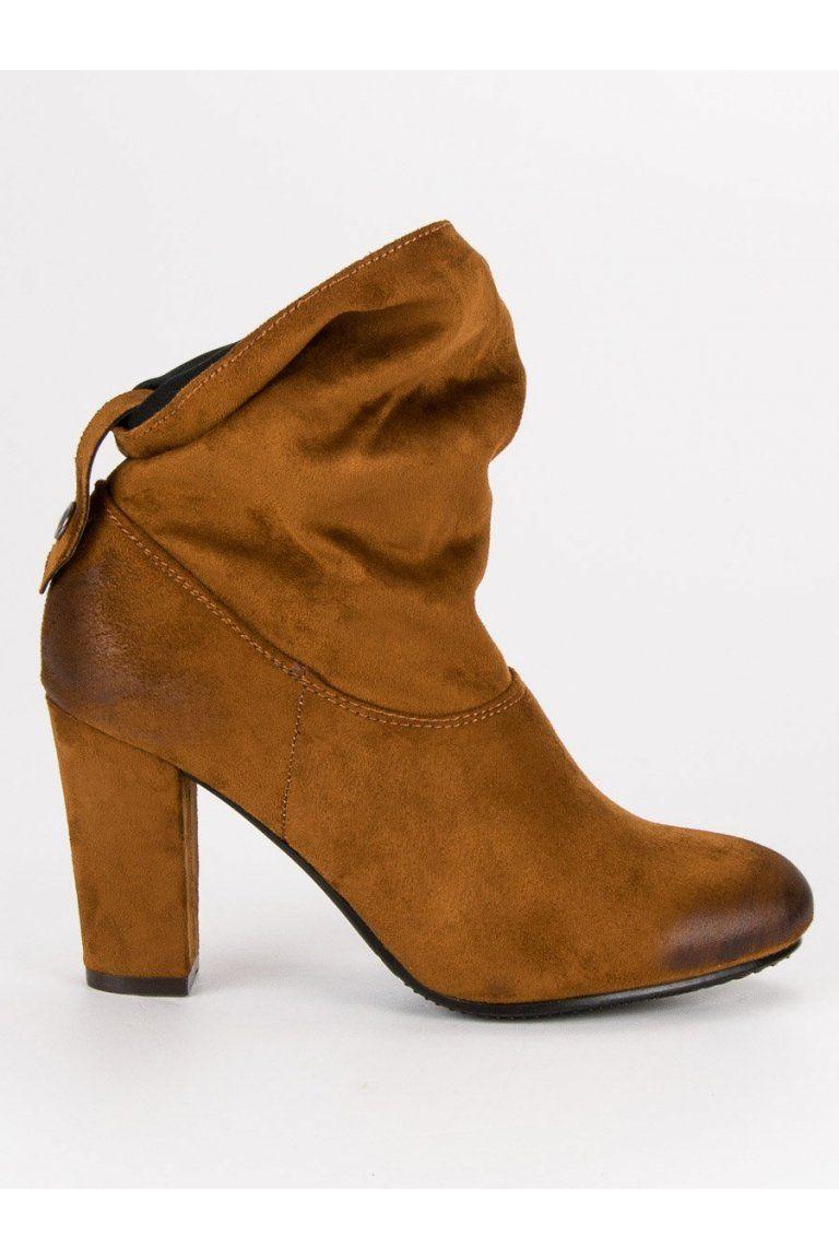 8a73d550fcad Semišové topánky na stĺpiku VINCEZA