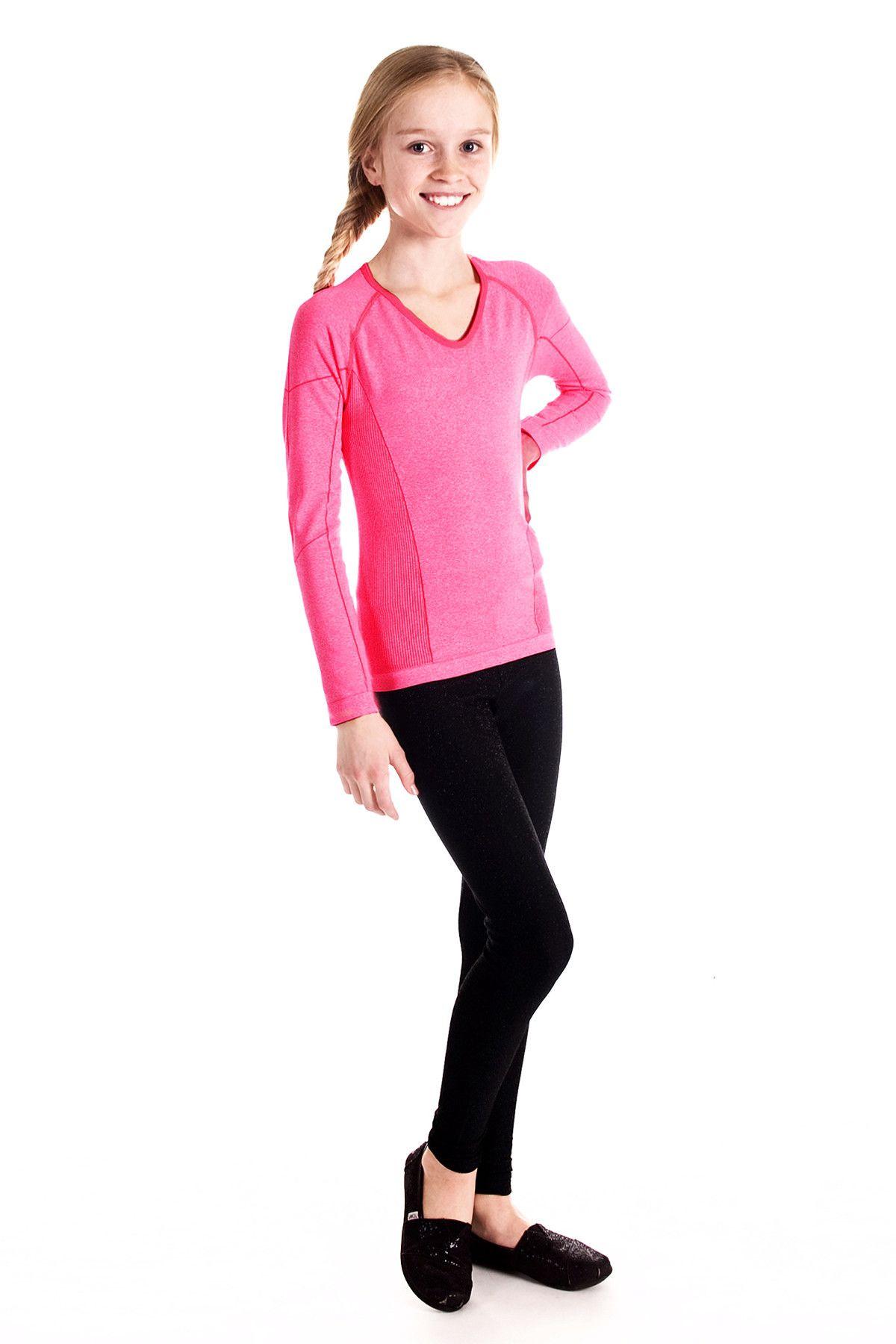 Girls Activewear - Black Seamless Leggings - Limeapple | Active wear  leggings, Girls activewear, Active wear tops