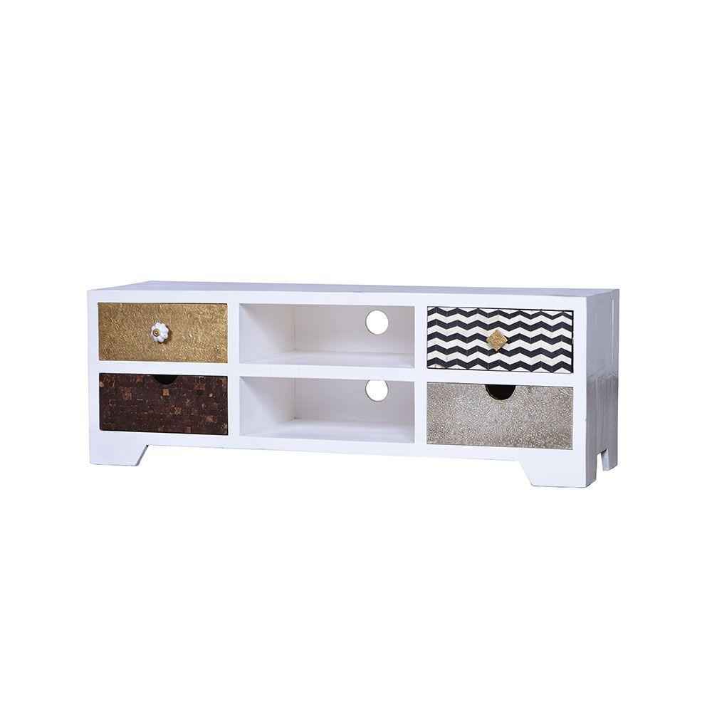 design lowboard in weiß bunt ausgefallen jetzt bestellen unter ... - Wohnzimmer Weis Bunt