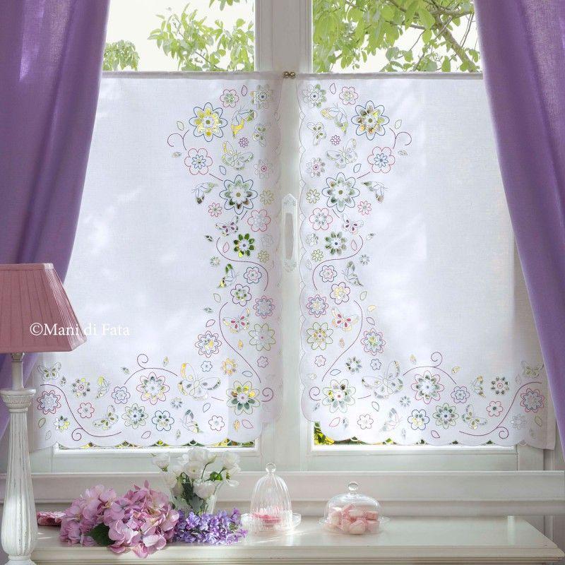 Lino disegnato per tende, ricamo intaglio | Whitework | Pinterest ...