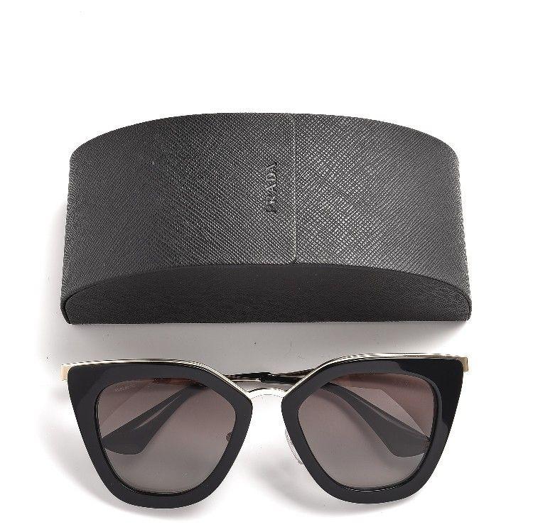f19b3eb825866 Tom Ford Anoushka TF371 TF 371 01Z Shiny Black Gold Cat Eye Sunglasses 57mm