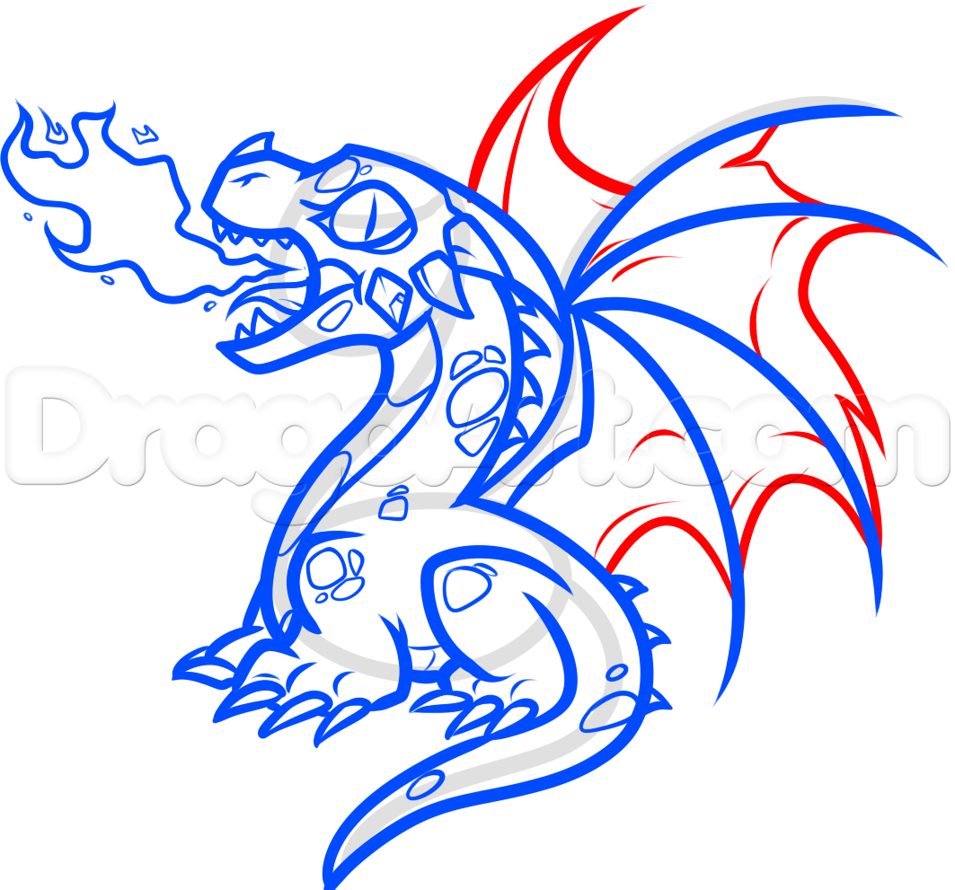 How To Draw A Baby Fire Breathing Dragon By Dawn Fire Breathing