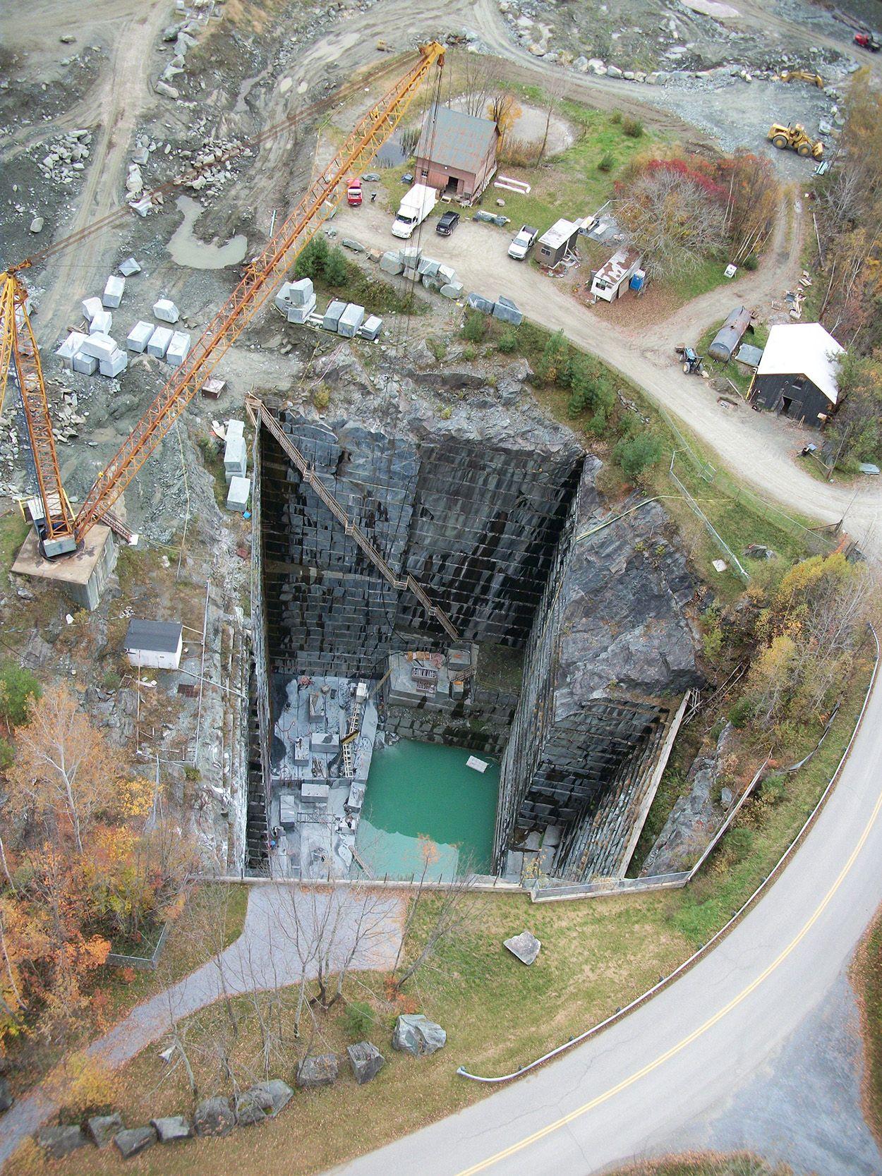 The Quarry From Above Vermont Verde Antique Quarry