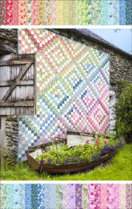 Quilt Kit Top: Rainbow Trip by Gray Sky Studio | Quilts ... : inexpensive quilting fabric - Adamdwight.com