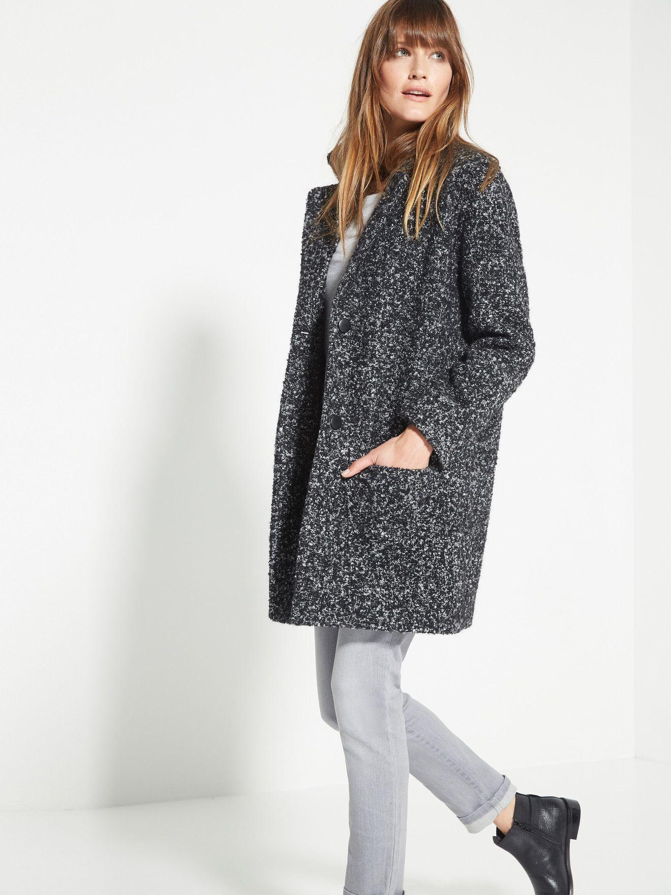 Laine Laine Femme Femme Tweed Tweed Deluxe1 Manteau Manteau Deluxe1 Tweed Manteau Laine FwSgq4Zn